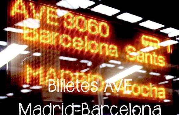 Billetes de trenes baratos de Madrid Barcelona en AVE
