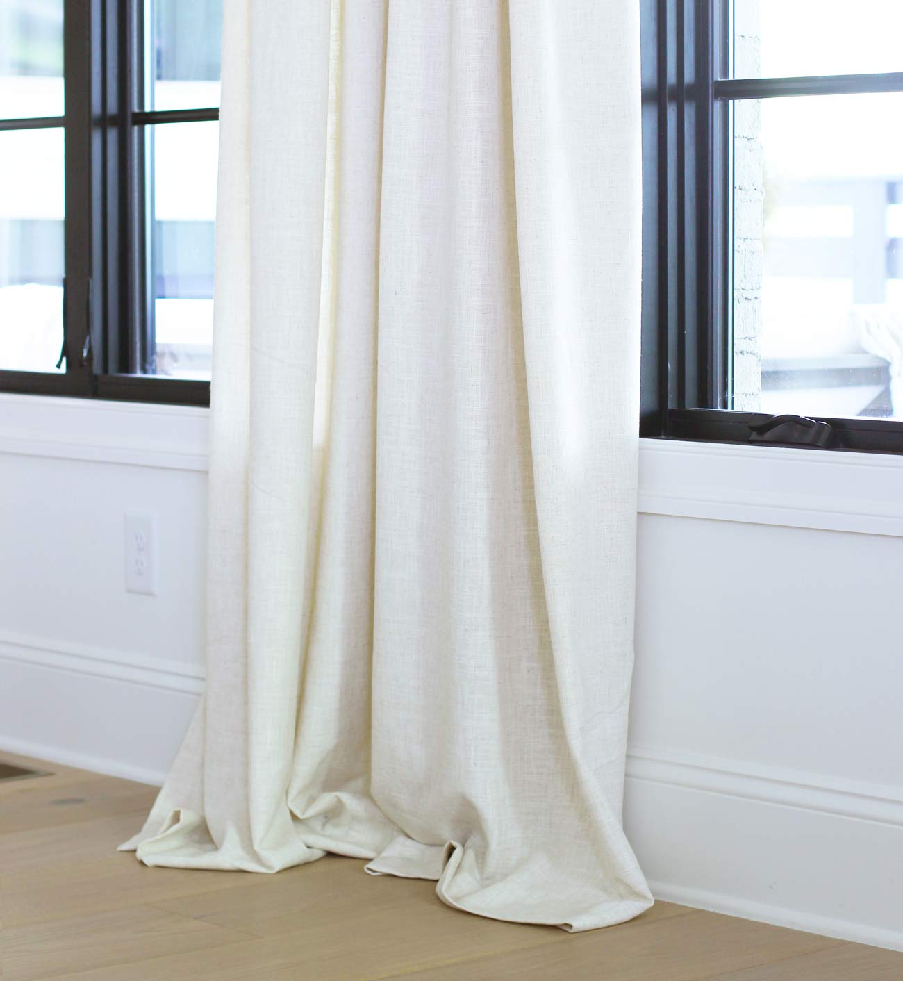 how high to hang curtains plank and