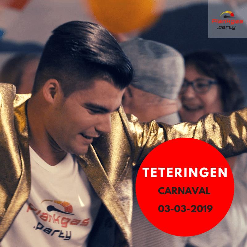 Plankgas treedt op tijdens Carnaval in Teteringen. Nederlandstalige muziek.