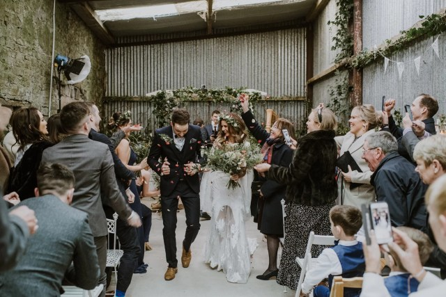 An Ethereal Rue de Seine Dress for a Sustainable & Natural Inspired Irish Castle Wedding