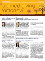Planned Giving Tomorrow Fall 2014