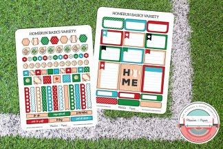 Baseball Basics Variety Planner Sticker Pack