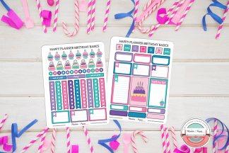 Birthday Basics Variety Planner Sticker Pack