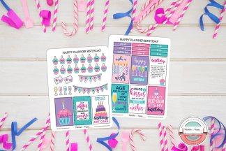Birthday Planner Sticker Kit