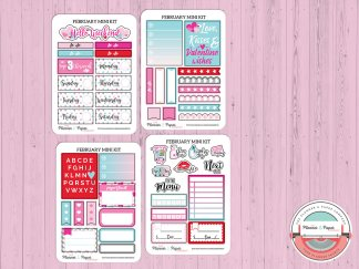 February Planner Sticker Mini Kit