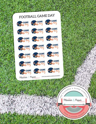 Football Game Day – Planner Stickers Small Sheet
