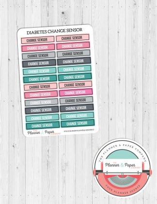 Glucose Meter Change Sensor Planner Stickers