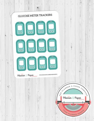 Glucose Meter Sugar Level Tracker Planner Stickers