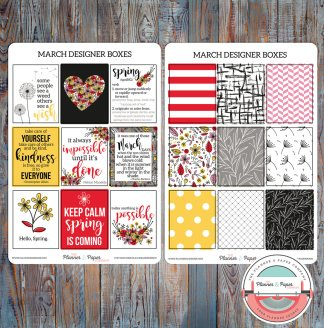 March Designer Boxes Planner Stickers