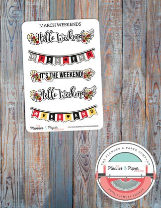 March Weekend Planner Stickers