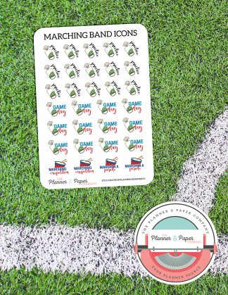 Marching Band – Planner Stickers Small Sheet