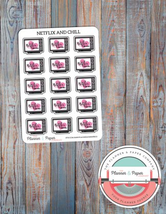 Netflix & Chill – Planner Stickers