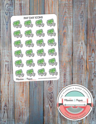 Pay Day Icon Planner Stickers