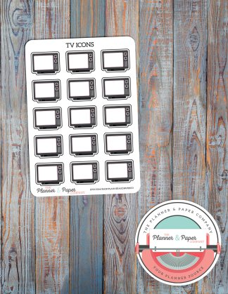 TV Icon – Planner Stickers
