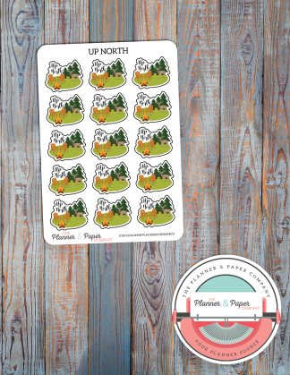Up North – Planner Stickers