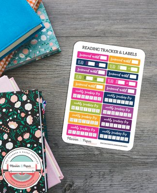 Weekly Reading Log Habit Trackers, Renewed Until & Read To – From Planner Stickers
