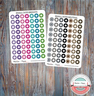 Small Dot Planner Stickers – Bright or Neutral