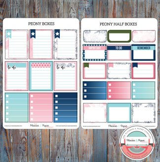 May Full & Half Boxes Planner Stickers