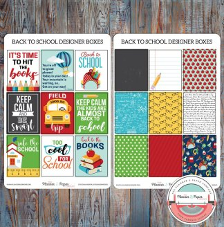 Back to School Designer Boxes Planner Stickers