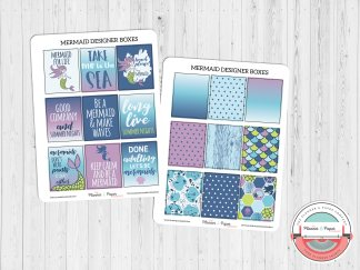 Mermaid Designer Boxes Planner Stickers