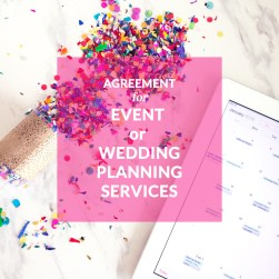 contract templates for wedding planners