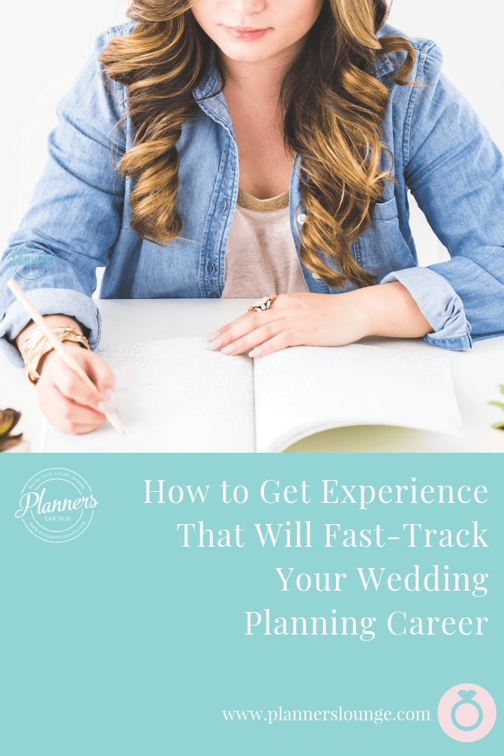 Many people aspire to become wedding planners which makes the competition fierce forinternships and wedding jobs.Gain an edge on the competition with these four ways to get experience that will fast-track your wedding planning career! {from Planner\'s Lounge}