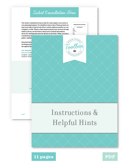 The wedding planners toolbox the toolbox also comes with 11 pages of instructions helpful hints and additional resource links even if you are new to wedding planning the toolbox has solutioingenieria Image collections