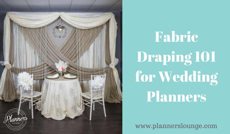 Fabric Draping 101 for Wedding Planners & Designers