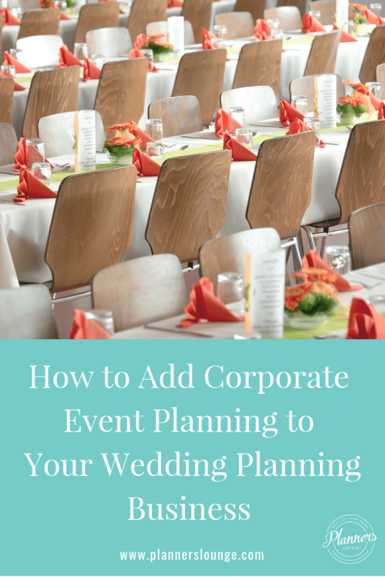 break into corporate event planning