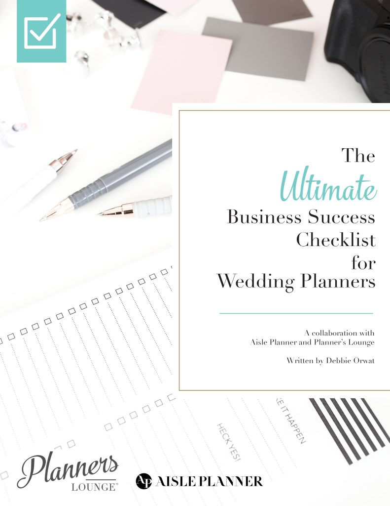 There are a million things that you are responsible for in addition to planning and designing events. The stress of keeping your business healthy shouldn't be a stumbling block. Get the Ultimate Business Success Checklist for Wedding Planners today! {via Planner's Lounge}