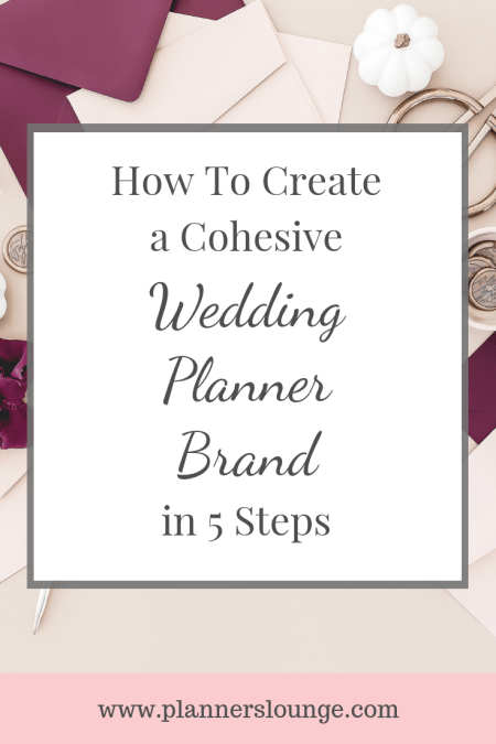 creating a brand for your wedding planning company