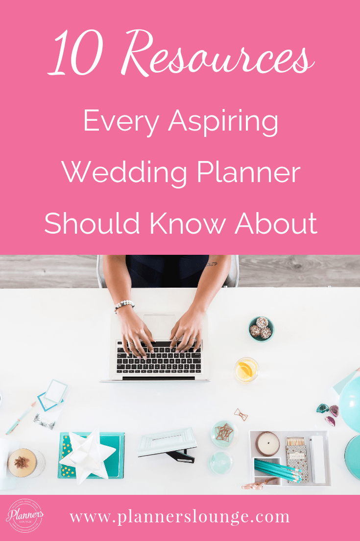 Templates, books, software, courses, advice, and so much more! Here are the top 10 resources for aspiring wedding and event planners from Planner\'s Lounge.