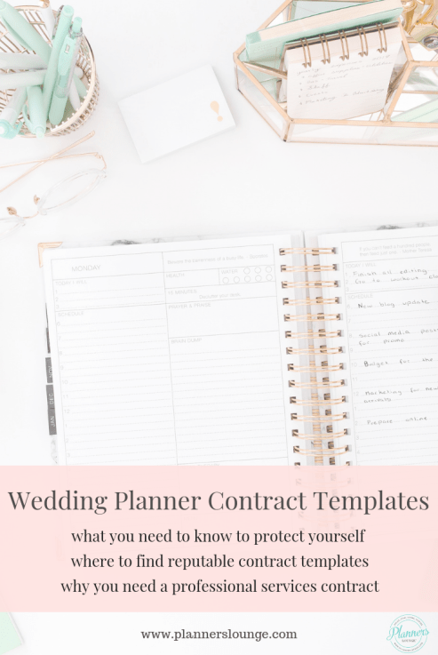 wedding planning contracts for services