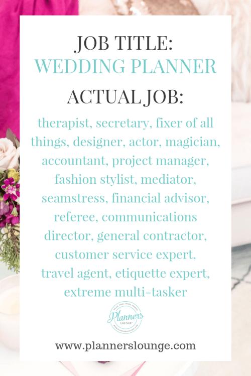 wedding planner job title
