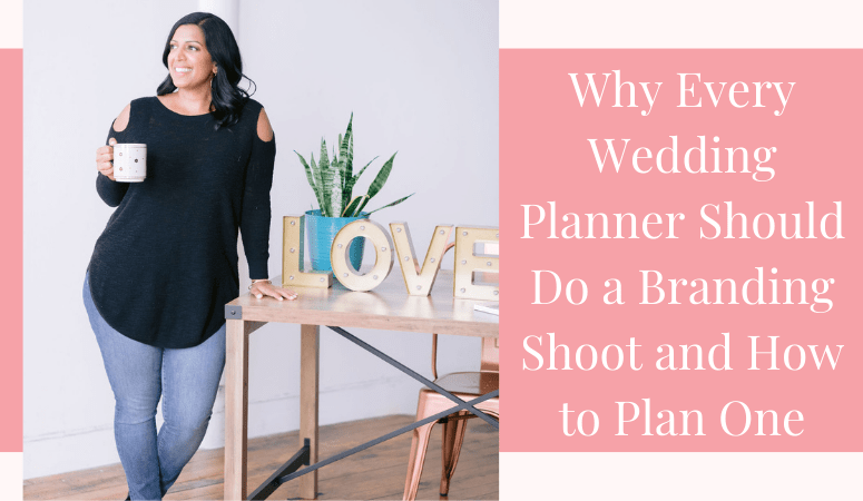 branded photo shoot of a wedding planner