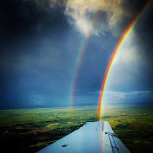 Rainbow from the plane
