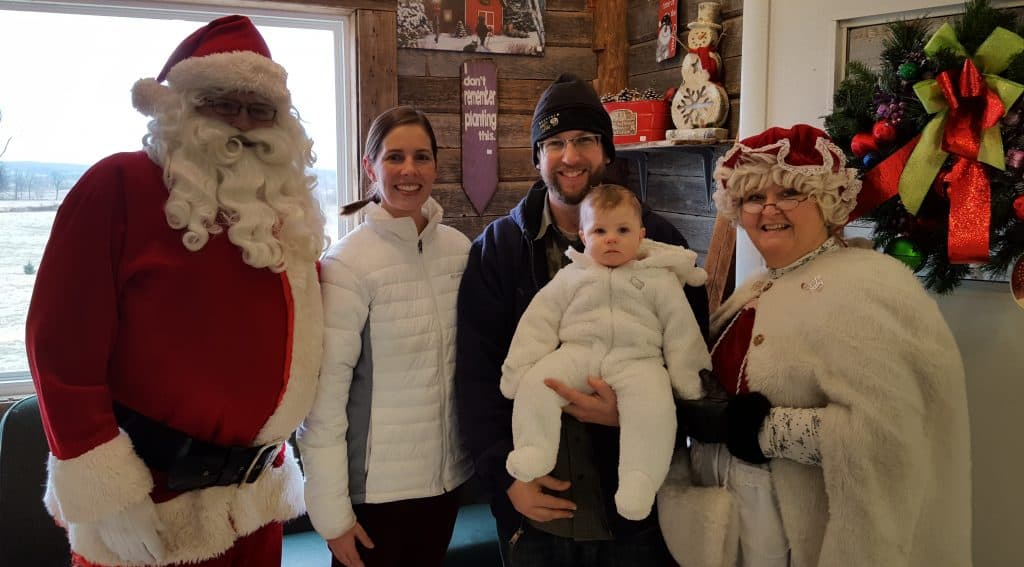 Picture with Santa.
