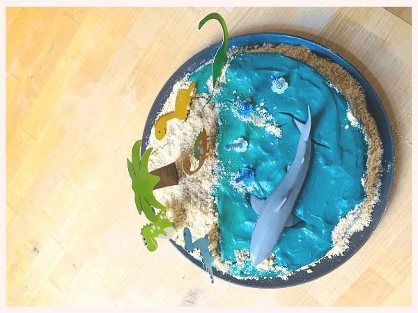 einfacher Geburtstagskuchen, Kuchen, Torte, Strand, planningmathilda