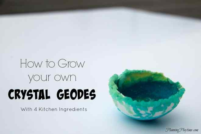 How to Grow your Own Crystal Geodes Simple Science Experiment for Kids