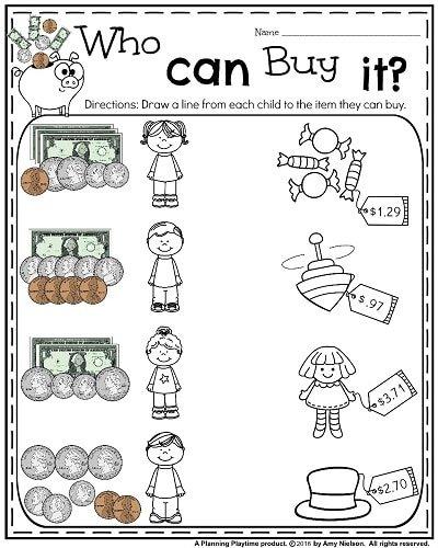 Money Worksheets For 2nd Grade Planning Playtime