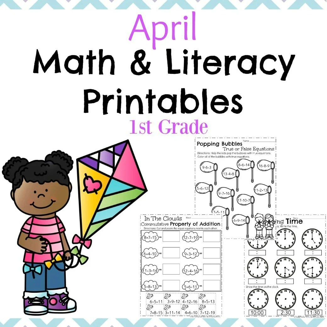 image relating to Printable Literacy Centers First Grade identified as March Initially Quality Worksheets - Building Playtime
