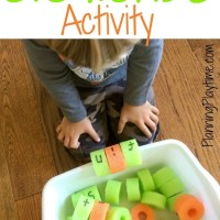 Pool Noodle CVC Words Activity