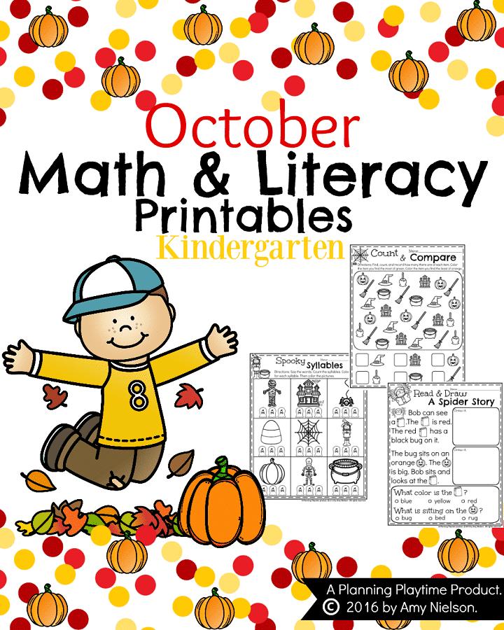 October Worksheets For Kindergarten