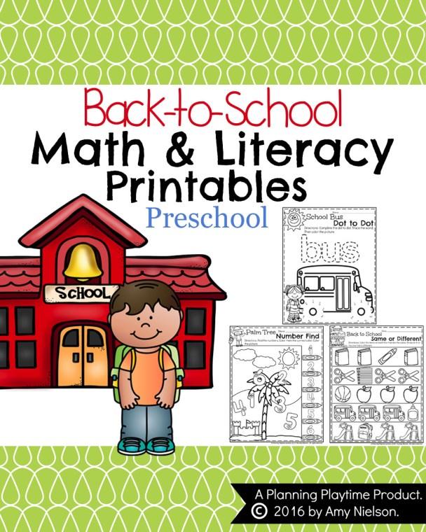 Back to School Preschool Worksheets.