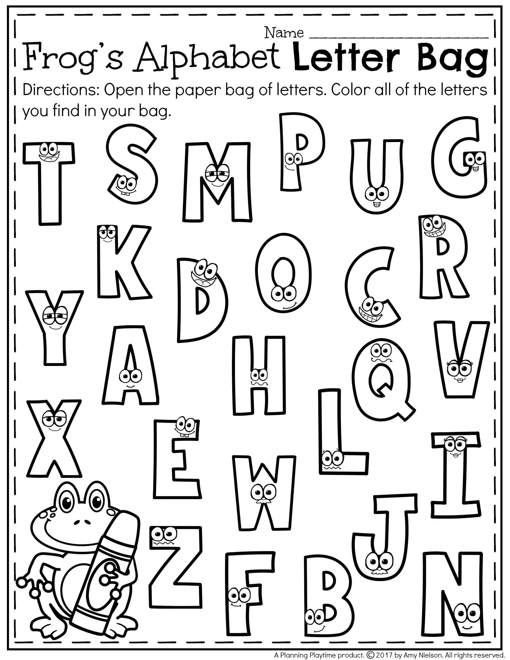 Letter Matching Worksheet To Color