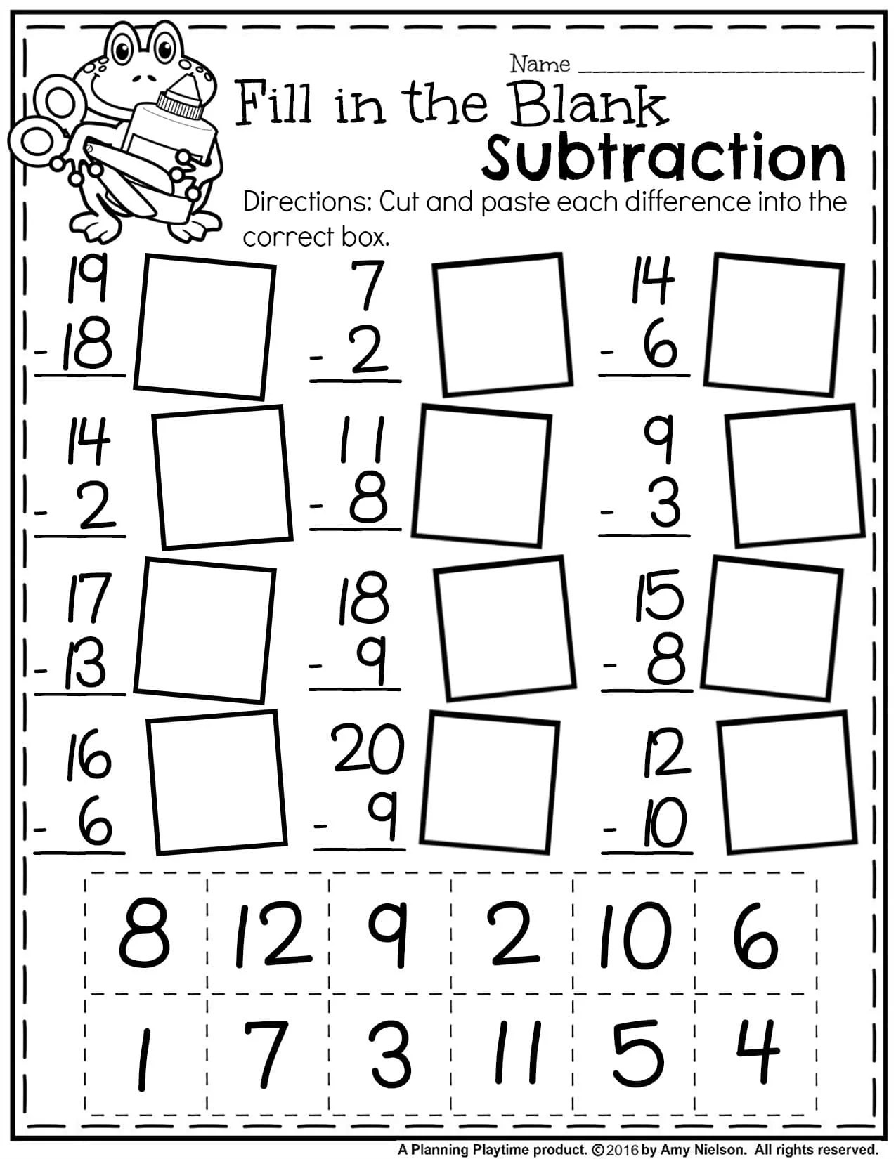 Worksheet Math First Grade