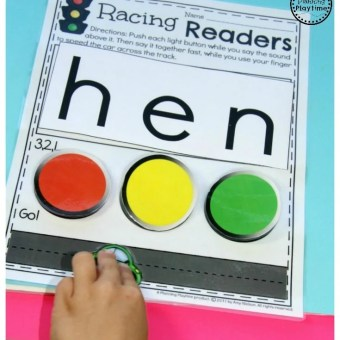 Kindergarten Reading Practice with Race Cars. So fun!