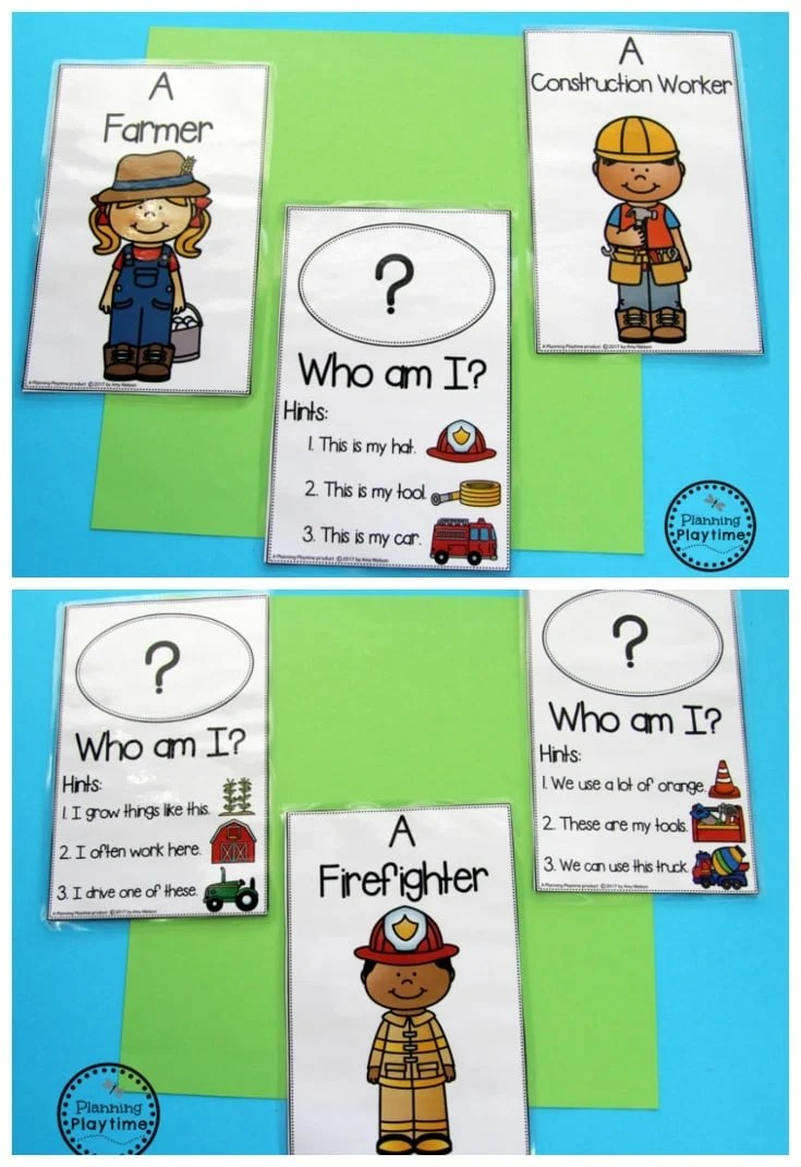Community Helpers - Who am I cards.