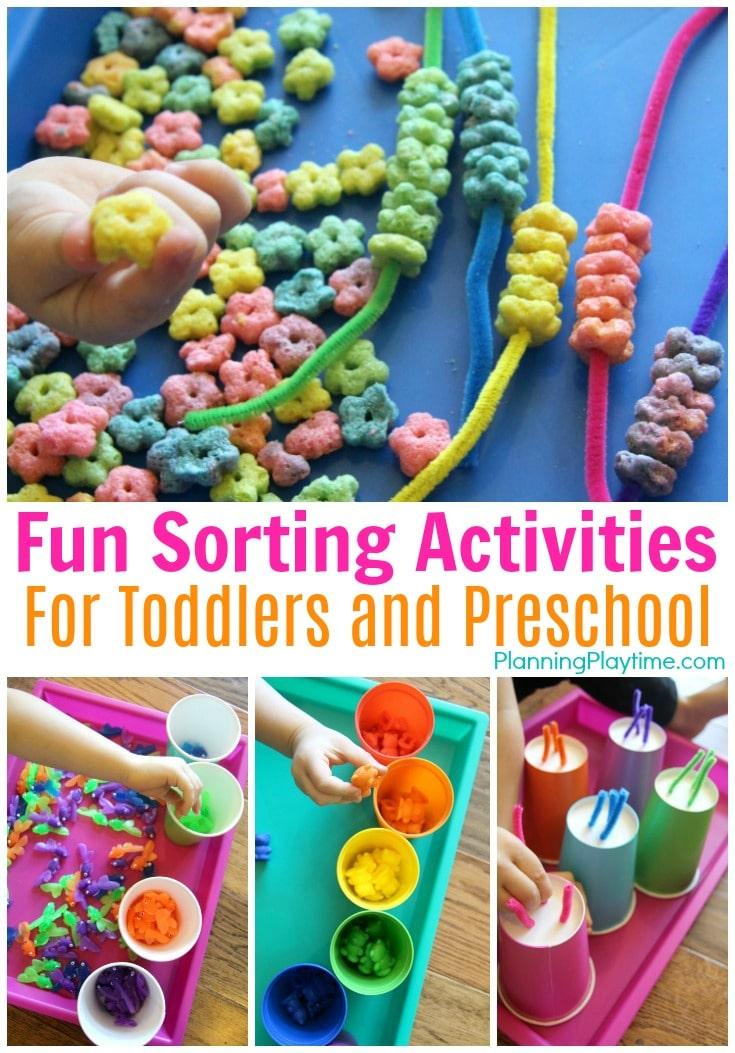 Sorting Activities for Preschool - Planning Playtime