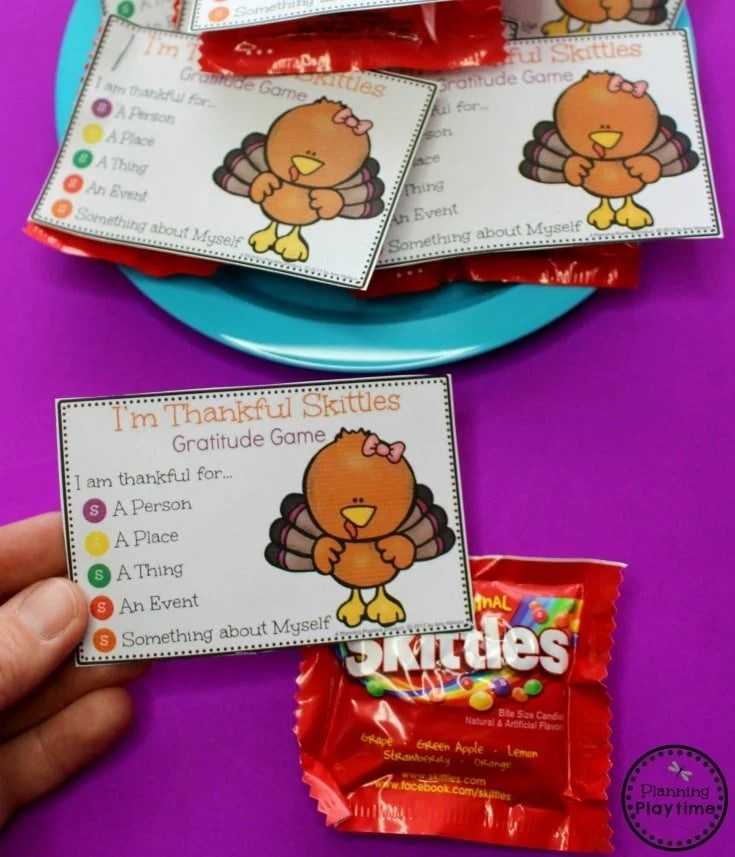 Cute Gratitude Game for Thanksgiving - Fun Thanksgiving Activity for kids.